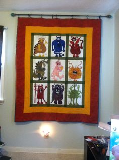 Montster Quilt made by my mom.