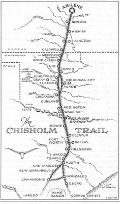 Kansas Chisholm Trail Map. The Chisholm Cattle Trail went through down town Newton, and thro. North Newton, to Abilene Stock Yards.