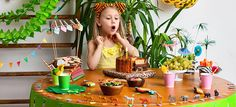 Jännittävät safarijuhlat - Fazer Childrens Party, Picnic, Birthday Cake, Desserts, Tailgate Desserts, Deserts, Birthday Cakes, Picnics, Postres