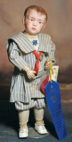 All original Schoenhut Carved Hair Boy Doll, 1911-16