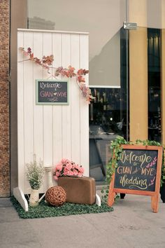 Welcome Area | Rustic Theme | Event Styling by Something Pretty Manila for Gian and Mye's Wedding at Wafu Japanese Restaurant Pastel Weddings, Wedding Events, Wedding Ideas, Rustic Theme, Event Styling, Manila, Wood Art, Dream Wedding, Shabby Chic