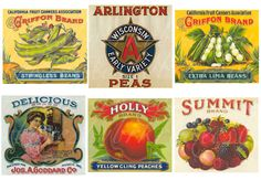 27 antique and vintage food labels and advertising, printable download for paper crafts -- no. 63 via Etsy