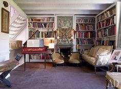 Home of theater designer Thierry Bosquet. Twenty years in the opera La Monnaie in Brussels, which put as a set designer and costume designer for many productions around the world, he is able to make the audience fo He Is Able, Corner Desk, Opera, Bookcase, Around The Worlds, Shelves, Interior, Furniture, Thierry