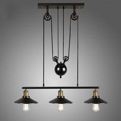 Vintage Pulley Pendant Loft Ceiling Light Hanging Lamp Artistic Lighting Fixture | eBay