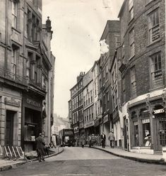 October 1960 when the council proposed rebuilding the shops, left, to allow two lines of traffic in Saddler Street. The ground floor would be set back from the streetline, but the upper storeys would overhang to maintain the feel of the narrow street Durham England, North East England, Durham City, St Johns College, Historical Pictures, Photo Archive, Newcastle, Ground Floor, Cathedral