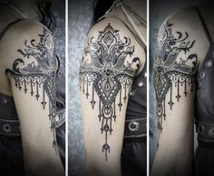 If I were to get a tattoo on my outer arm/shoulder, it would definitely be something like this. So beautiful!