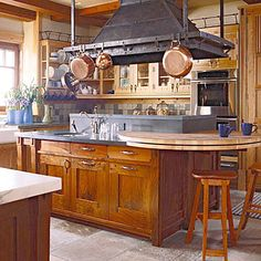 Mixing Woods And Finishes In The Kitchen. Island StoveIsland HoodIsland ...
