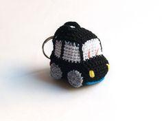 Monisimo! Coche negro de ganchillo (llavero), Complementos, Llaveros, Crochet, Amigurumis, Miniaturas y muñecas, Amigurumis, Otros, Personalizados, Juguetes, Amigurumis