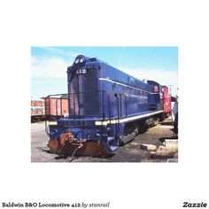 Baldwin B&O Locomotive 412 Canvas Print; $92.90 - #stanrail - Zazzle's gloss canvas is made from an additive-free cotton-poly blend and features a special ink-receptive coating that protects the printed surface from cracking when stretched. Made with a tight weave ideal for any photography or fine art, our instant-dry gloss canvas produces prints that are fade-resistant for 75 years or more. @stanrails_store