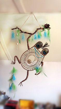 Frog Dream Catcher Animal Dream Catcher Bohemian Dream Catcher