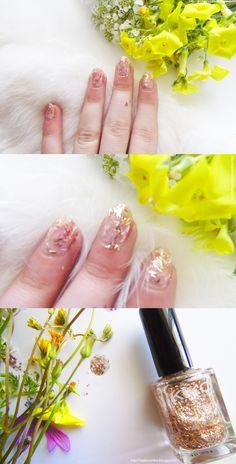 Kiko Fancy Top Coat in Golden  Read the review here! http://raylynnonline.blogspot.it/2015/04/kiko-fancy-top-coat-in-golden.html #nails #kiko #nailpolish