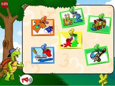 """Juegos Educativos Online Gratis: """"Juega con Menta, la tortuga"""" (Educación Infantil de 4 años)"""