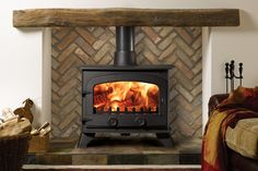 Yeoman Exe Stove from Yeoman Traditional Stove range Yeoman Exe Stove is available as woodburner or multi-fuel stove. Buy Yeoman Exe Stove with a flat top or canopy from authorised Yeoman Stove retailers Wood Burner Fireplace, Oak Mantle, Fireplace Inserts, Gas Wood Burner, Cabin Fireplace, Double Sided Stove, Boiler Stoves, Multi Fuel Stove, Open Space Living