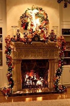 25 Beautiful Christmas Fireplace Decor Ideas Christmas Fireplace Christmas Mantel Decorations Christmas Fireplace Decor