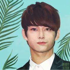 Carat Seventeen, Boy Birthday, Palm Trees, Jun, Art Pieces, Fan Art, Boys, Spotlight, Bubble