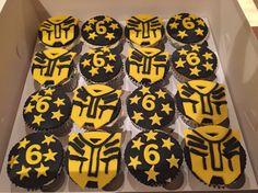 Transformer bumble bee cupcakes