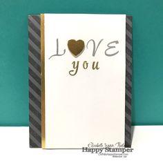 Stampin Up, Brushwork Alphabet, Lots of Love Box, diagonal stripes