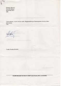 2000 lettera Belossi