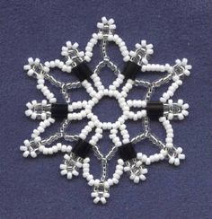Patterns Free Bead Tatting | ... or christmas ornamentsfree bead video snowflake crafters for beaded