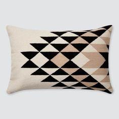 Modern Lumbar Pillow in Black, Cream, and Tan Modern Throw Pillows, Decorative Pillows, Tan Bedroom, Master Bedroom, Bedroom Decor, Bedroom Lighting, Peru, Office Color Schemes, Scrappy Quilts