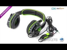 SADES SA708 Cool Stereo Gaming Headphone w/ Microphone - Green + Black (3.5mm Plug / 1.8m-Cable) - Free Shipping - DealExtreme