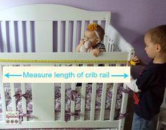 No Sew Fleece Tied Teething Crib Rail Cover Tutorial #momspotted