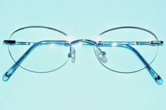 Foster Grant Readers Choice Frameless Demin Blue Oval Reading Glasses +2.25 #84