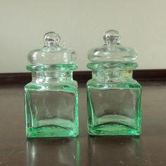 Pair of vintage glass ink bottles by RefoundRelics on Etsy, £4.50