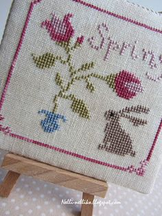 Stitcher: Nelli  Design: The Snowflower Diaries: Tulips With Bunny
