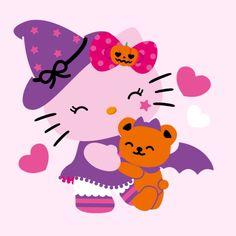 A panda's love for Hello Kitty Hello Kitty Halloween, Kawaii Halloween, Hello Kitty Birthday, Cute Halloween, Hello Kitty Images, Hello Kitty Items, Hello Kitty Cookies, Origami, Hello Kitty Tattoos