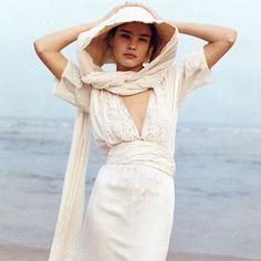 Natalia Vodianova by Peter Lindbergh for Harper's Bazaar 2003