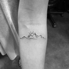 Waves with Mountain and Sun. Thank you trusting me to do your first tattoo. If you want… Waves with Mountain and Sun. Thank you Priscilla Pham.nguyen trusting me to do your first tattoo. If you want… Mini Tattoos, Trendy Tattoos, Body Art Tattoos, Small Tattoos, Sleeve Tattoos, Tattoos For Women, Tatoos, Wave Tattoos, Tattoos Of Stars