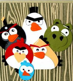 Designed by maryross: Tarjeta Angry Birds y Separador de Libros