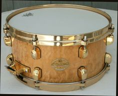Tama 6 5 x 14 Starclassic Snare Drum Quilted Maple Gold Plated Hardware
