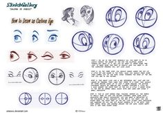 How to draw Cartoon eye by celaoxxx on deviantART ★ || CHARACTER DESIGN REFERENCES | キャラクターデザイン • Find more artworks at https://www.facebook.com/CharacterDesignReferences & http://www.pinterest.com/characterdesigh and learn how to draw: #concept #art #animation #anime #comics || ★