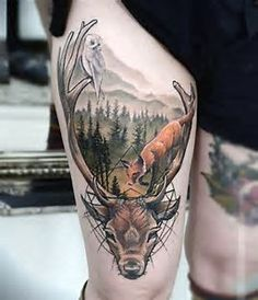 Image result for hunting tattoos for men