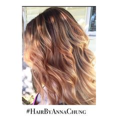 Erica || Color Correction And Cut ✂️ . . @HairbyAnnaChung #SideView #MediumHair #handpainted #spring #BehindtheChair #spring #PerfectHair #olaplex #Softcurls #Lowlights #Ombre #SanDiegoStylist  @flutterbyheart_