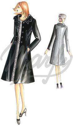 Model 2884 | Sewing Pattern Coats / Overcoats / Jackets