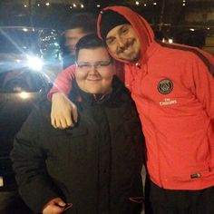 3/02/15 after Lille - PSG with fan