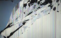 broken tv wallpaper | Cracked Screen Desktop Wallpaper Photo