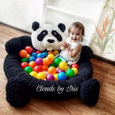 "Arm Crochet Pattern pool or mat Panda ""Chan LI"", gift idea, loop yarn, Valentine's Day – Wall Paper 2020 Crochet Mat, Crochet For Kids, Crochet Toys, Arm Crocheting, Or Mat, Unicorn Pattern, Arm Knitting, Knitting Needles, Crochet Animals"
