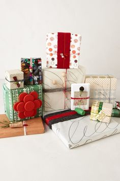 Anthro Blog: Creative gift wrapping ideas.