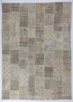 10x14 Ft Muted colors, Turkish Patchwork Rug Handmade from mid century Oushak…