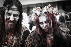 A zombie hippy-Funniest looking hippies