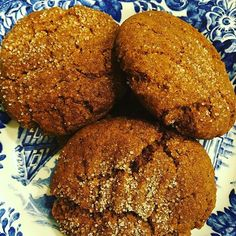 Felt like a cookie so made some #vegan and #glutenfree #molasses #ginger cookies. Sort of altered our recipe on the blog so I'll post it!  #cravelife #cookietime #gingermolassescookies