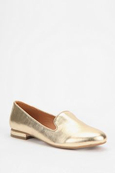 Deena & Ozzy Metallic Loafer I just bought these guys on sale....I love gold!!!