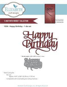 "Quietfire ""Happy Birthday"" (1054) from ElizabethCraftDesigns.com"