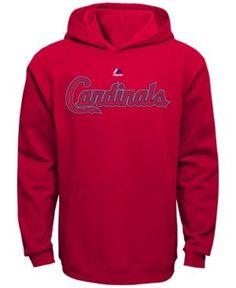 Majestic Kids' St. Louis Cardinals Wordmark Fleece Hoodie - Red XL