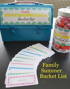 Family Summer Bucket List Family Summer Bucket List Family Summer Bucket List