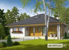 Eris II (wersja C) - projekt domu - Archipelag My Home Design, Modern House Design, Bungalow House Design, Malaga, Gazebo, House Plans, Outdoor Structures, How To Plan, Architecture